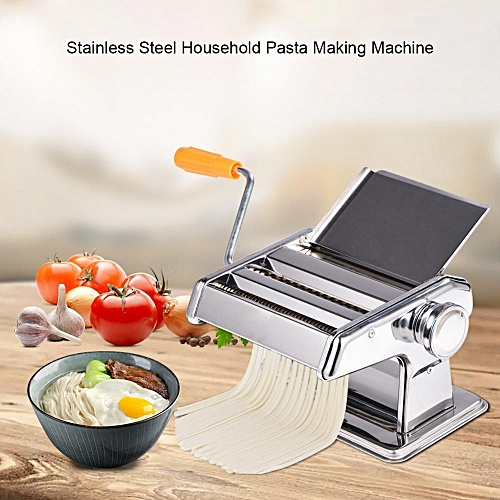 Stainless Steel Household Pasta Making Machine Manual Noodle Maker Spaghetti Hand Cutter