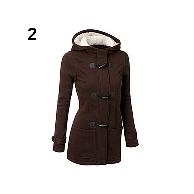 50ee1a52d Sanwood Women Fashion Winter Jacket Coat Parka Horn Buttons Casual ...