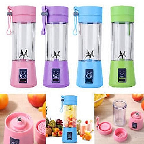 6 Blades Rechargeable Smoothie Fruit Blender With USB Port-