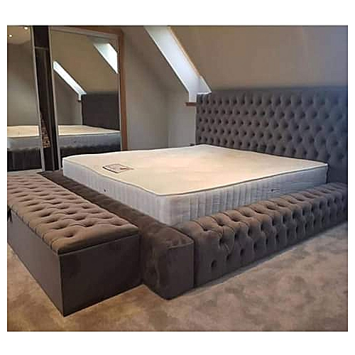 Coffee 6by7bedframe+Legrest-Free Pillows-Free Lagos Delivery