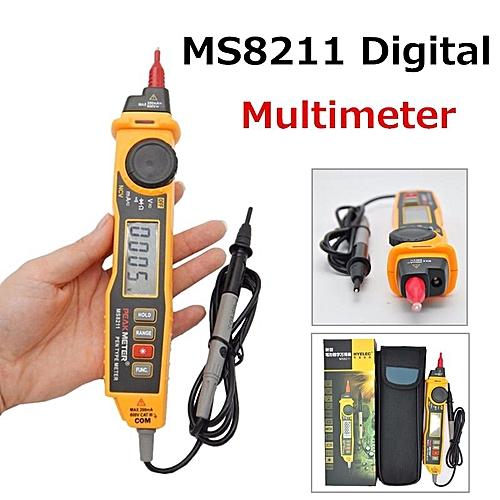 PEAKMETER MS8211 Digital NVC Multimeter Pen Type Meter DMM Diode