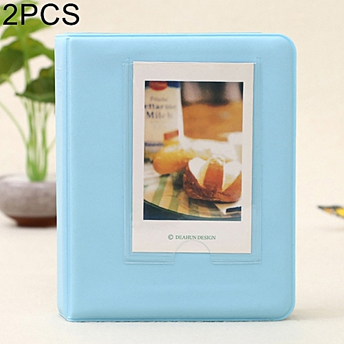 Generic 2 PCS DIY Creativity Insert Type Pinkycolor 64 Pages Exquisite Photo Album(Blue)