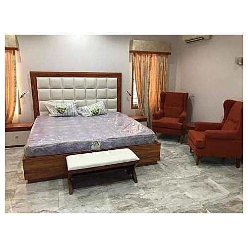 Full Set-6by6by10 Bedframe+Mattress,Legrest+2 Chairs+Pillows