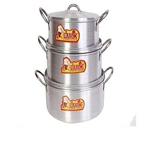 Cooking Pots Sets Of 3 Pieces