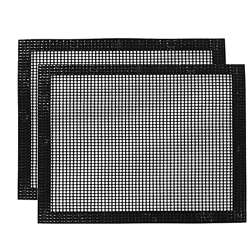 BBQ Mesh Grill Mat Set Of 2 Grill Mats Non Stick Nonstick Grilling More Delicious Smoky Flavor
