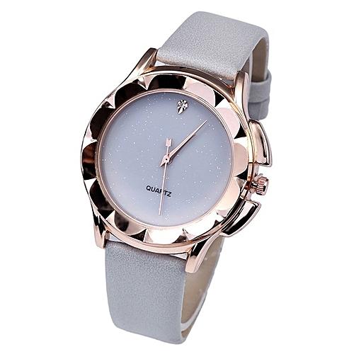 Women Stars With Diamonds Studded Lady Wristwatch Quartz Watch Hand Wrist Grey