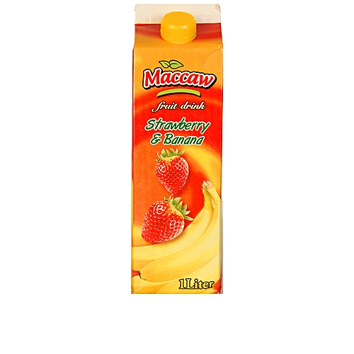 Maccaw Strawberry And Banana Fruit Drink -1liter