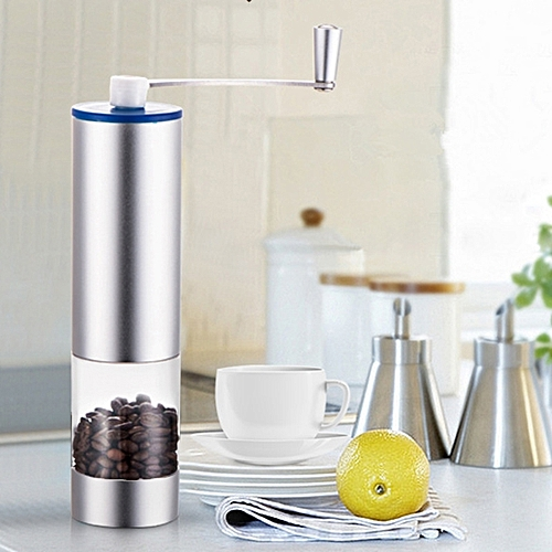 Portable Conical Burr Mill Manual Stainless Steel Spice Herbs Hand Crank Coffee Bean Grinder