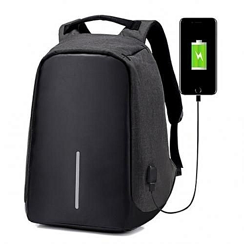 779c5bf11c Fashion Anti Theft Water Resistant Security Travel Backpack   Laptop Bag With  USB Charging Port - Black