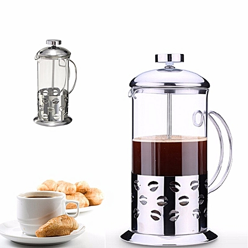 350ml/600ml / 800ml Stainless Steel Glass Cafetiere French Filter Coffee Press Plunger