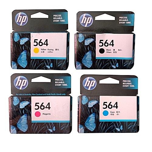 4 SETS OF 564 Cyan,YELLOW,MAGENTA,BLACK Genuine Ink Cartridge