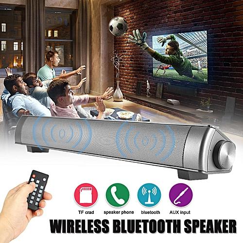 DC5V Bluetooth 4.0 Wireless TV Home Theater Sound Bar Speaker Soundbar AUX/TF