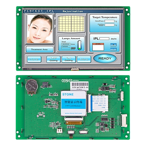 "7.0""Intelligent HMI TFT LCD Display With RS232 Port"