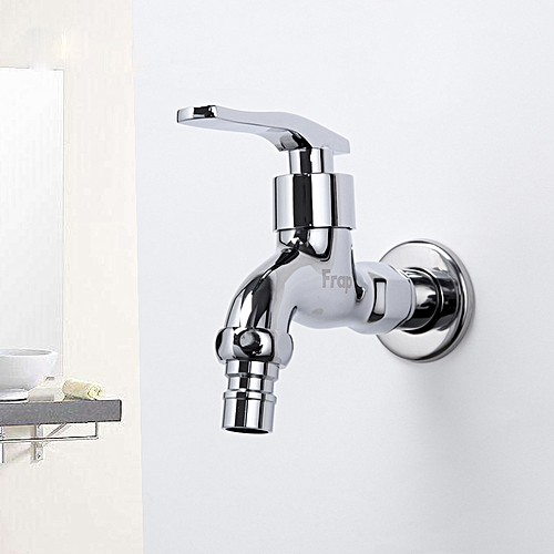 FRAP F522 High Quality Kitchen Desk Mounted Silver Double Handles Sink Faucet