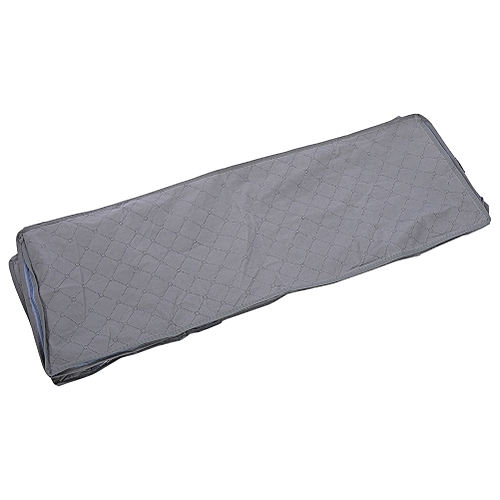53L Non-woven Large Blanket Clothes Home Storage Organizer Box Bag Case 5 Compartment Grey