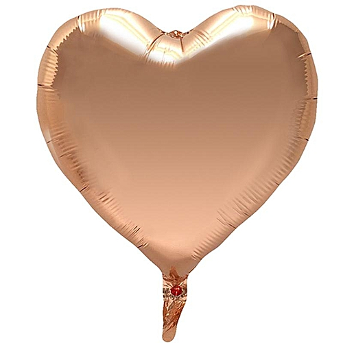 Rose Gold Heart-shaped Pentagram Round Foil Balloons Air Wedding Decoration Helium Balloon Party Decoration Kids Baby Shower