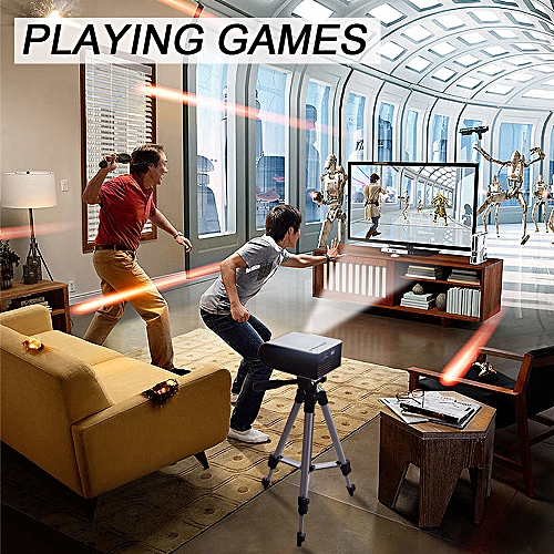 7000 Lumens 1080P Mini LED 3D Projector Home Cinema Theater Video Multimedia USB