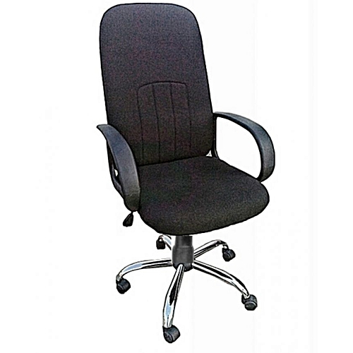 Fabric Swivel Office Chair-Black (Delivery Within Lagos Only)