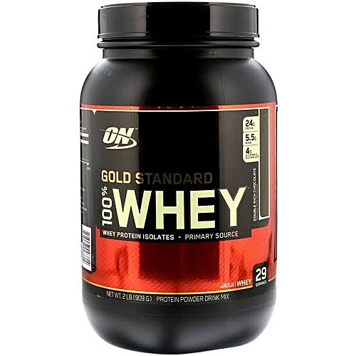 1d517aa59 Optimum Nutrition Gold Standard 100% Whey Protein 2LB Double Rich Chocolate  Flavour