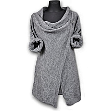 d63f2d8900cf73 New Casual Ladies Jacket Sexy Waist Lace Stitching Jacket-deep Gray