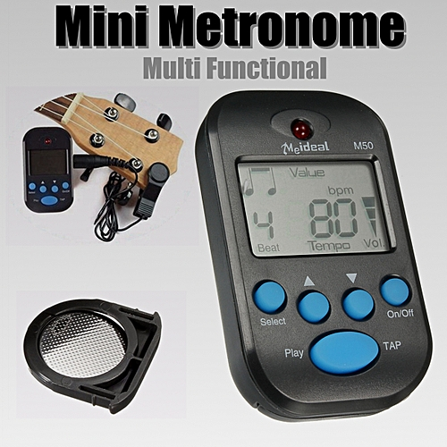 LCD Portable Digital Beat Tempo Mini Musical Counting Metronome Black