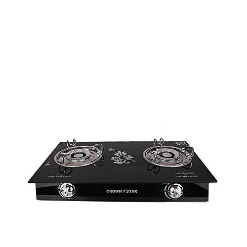 Crown Star 2 Burner Glass Table Top Gas Cooker Buy
