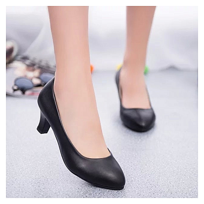 7b25b681b79 New Women Shoes High Heels Ladies Shoes Office Lady Chunky High Heels Women  Pumps Work Shoes