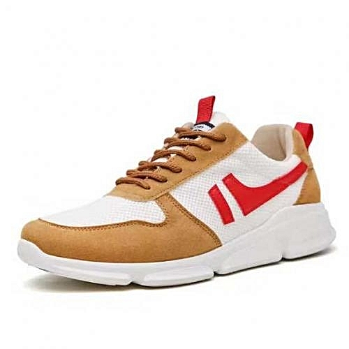 Trendy Lace Up Canvas Sneakers- Brown