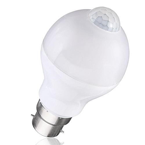 B22 7W Auto PIR Motion + Light Sensor Detection LED Light Lamp Globe Bulb Warm White
