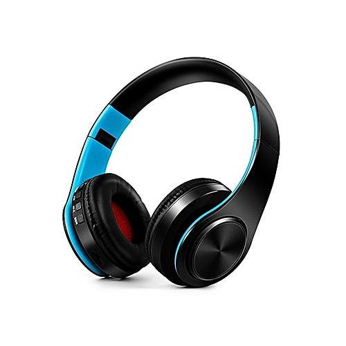 e9a5f25df51 Generic Wireless Bluetooth Headphones Gaming Headset TF Card Music  Headphone Sport Cordless With Micphone Foldable Earphone For  Samsung(blueblack)