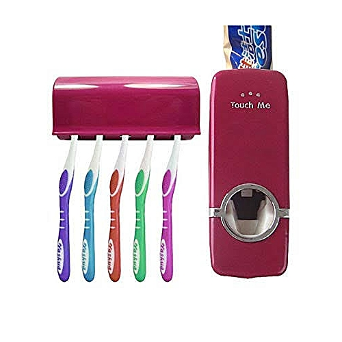 Automatic Toothpaste Dispenser & Tooth Brush Holder