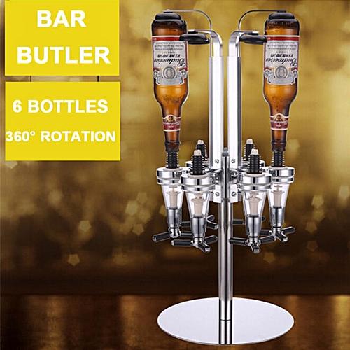6 Bottle Drinks Dispenser Wine Champagne Bar Butler