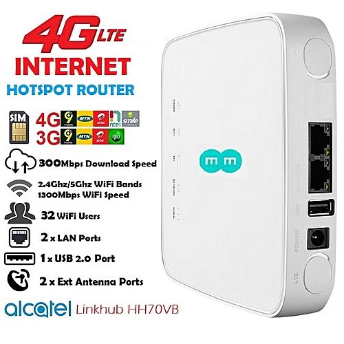 4G LTE Internet Router For Smile,Ntel,MTN,Airtel,9Mobile,Glo