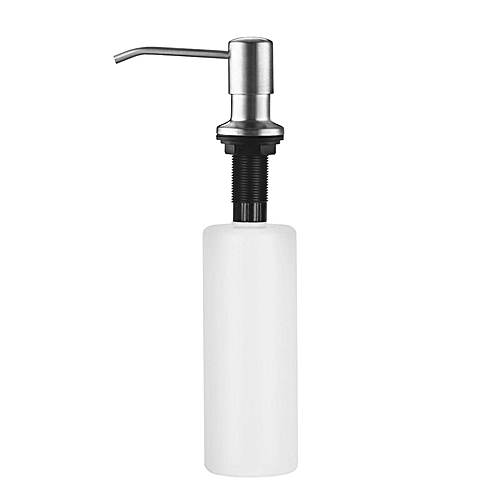 Stainless Steel Built In Pump Kitchen Sink Dish Soap Dispenser Large Capacity