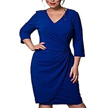 Women Dress Fashion Elegant Bodycon Evening Plus Size Female Dresses Deep  V-Neck Vestidos e2135c1264b3