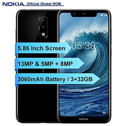 X5 - 5.86-Inch HD+ (3GB RAM + 32GB ROM) Android 8.1, (13.0MP + 5.0MP) + 8.0MP, 4G LTE Dual SIM Smartphone - Black