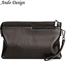 Long Wallet Purse For Men Pu Leather Large Capacity Clutch - Brown S