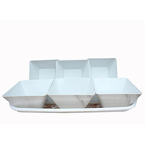 Unbreakable Ceramic Plates With A Nice TRAY