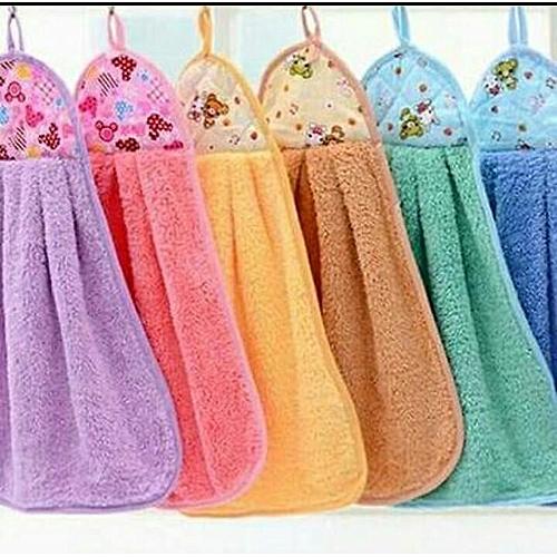 6pcs Hangable Kitchen Towels - Multicolour (Colors May Vary)