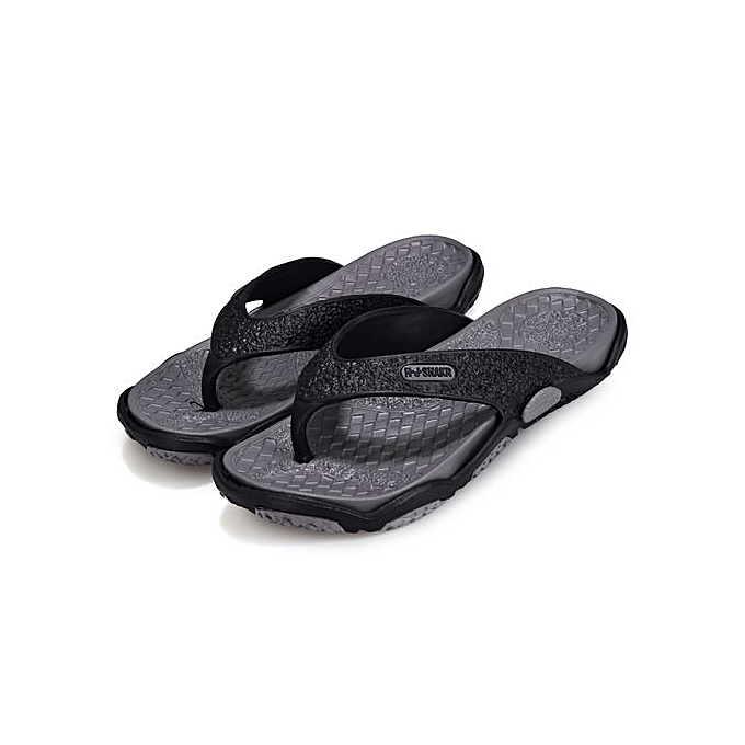 a4c9a4742be1a7 ... Fashion Man s Flat Flip Flops Fashion Casual Breathable Comfortable  Shoes Slides-black ...