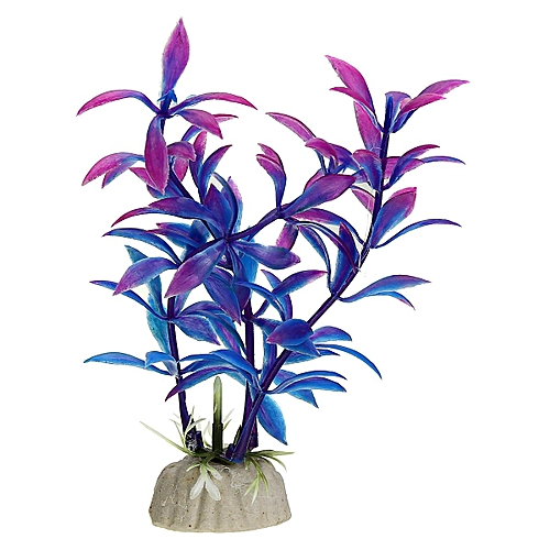 Fashion Purple Artificial Aquarium Decorations Plants Fish Tank Grass Flower Ornament Decor Aquatic Animals Accessories