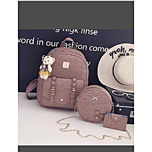55bd0002d00 New Cool Ladies Leather 3 N 1 Bag With Crossbody And Wallet Nude