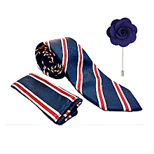 427a43c7801d Men's Ties Woven Tie Set With Pocket Square And ...