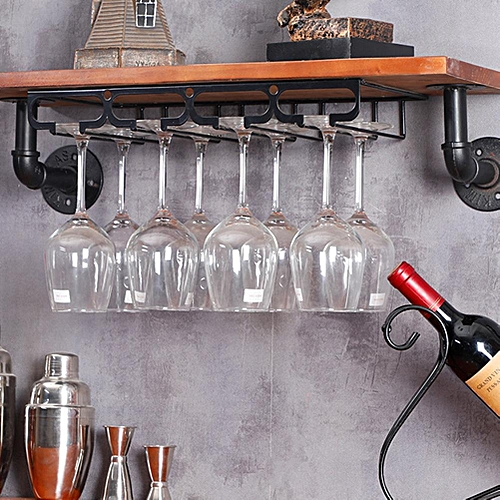 Hanging Wine Glass Cup Rack Holder Shelf Organizer For Kitchen Living Room Display Stand