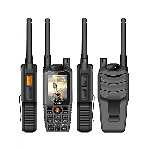 A8+ Walkie-Talkie Phone,Cover Distance 5km, Big Torch Light,Super Big Speaker ,10000 Mah Power Bank Battery -Black