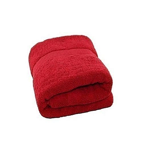 Quality Large Bath Towel- Red