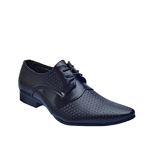 Formal Fish Leather Shoes - Black