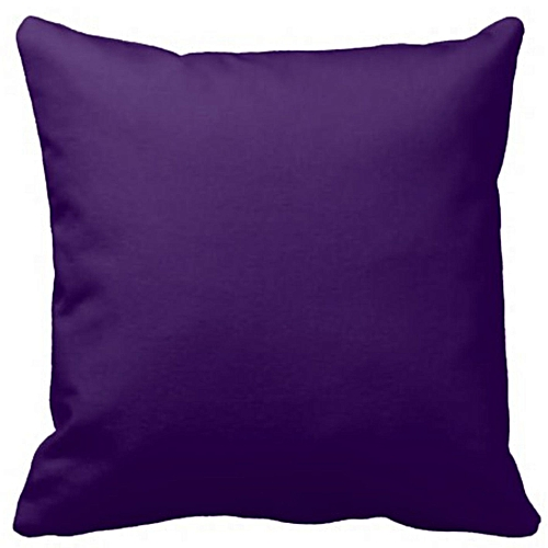 Plain Deep Purple Throw Pillow