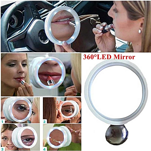 LED Lights Makeup Mirror Professional 8X Magnification Vanity Curved Magnetic Mirror Beauty Tool