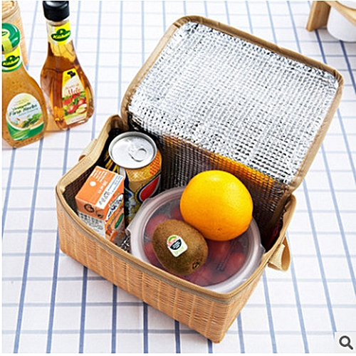 Fashion Lunch Box Thermal Insulated Tote Cooler Bag Bento Pouch Lunch Container
